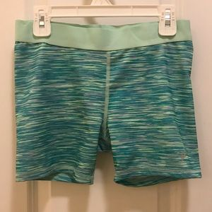 Kids green athletic shorts